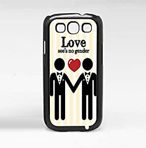Men's Love See's No Gender (LGBT) Hard Snap on Phone Case (Galaxy s3 III)