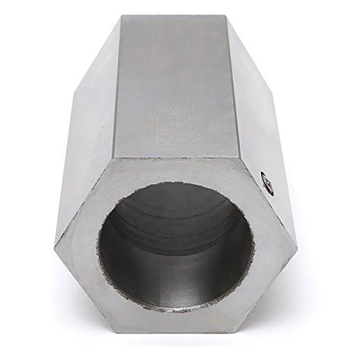 ZOYOSI 5-C Hexagon Collet Block Hard Steel Collet Block Lathe Tool Holder