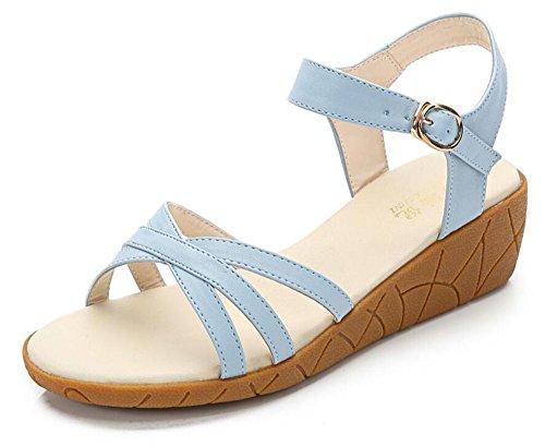 篭アンソロジー飼いならす(ホーマイ)HOOMAI サンダル ぺたんこ レディース 歩きやすい 厚底 ヒール4cm ウェッジソール 大きいサイズ 22.5-26cm 婦人靴 アンクルストラップ