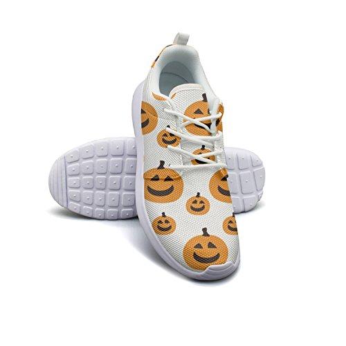 Armsttm Womens Lightweight Fashion Sneakers Halloween Pumpkin Face Pattern Casual Running Shoes ()