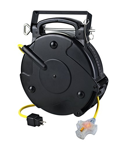 - Alert Stamping 8675MFT Tri Tap Cord Reel With one Locking Outlet, 75'