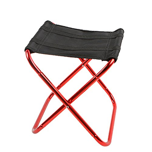 ng Stools Folding Fishing Stool Chair Lightweight Fold Up Travel Stool Waterproof Oxford Cloth and Aluminum Alloy Pipe for Picnic Hiking Garden BBQ(rose red) ()