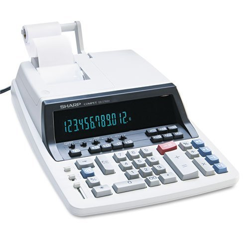 - QS-2760H Two-Color Ribbon Printing Calculator, Black/Red Print, 4.8 Lines/Sec, Sold as 1 Each