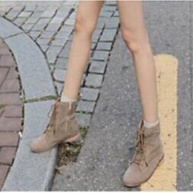 Botas de mujer Primavera Confort marrón caqui Casual PU Khaki