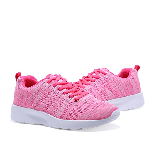 AFFINEST Scarpe Mesh Platform Dimagranti Sportive Basculanti Fitness Scarpe Da Ginnastica Sneaker Sommer und Winter Rosa