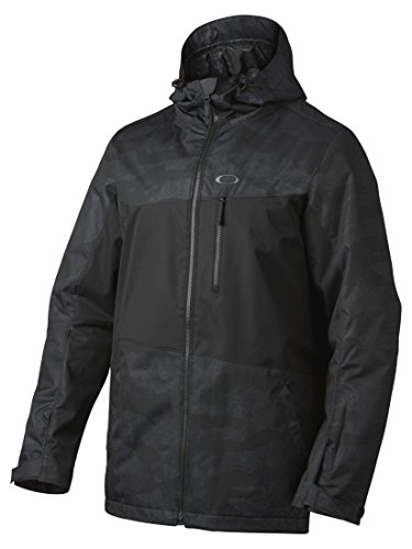 Oakley Men's Easy Street Bio Zone Insulated Jacket, Jet Black Camo, - Jacket Oakley Camo