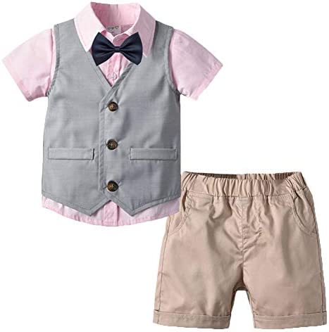 Conjunto de Ropa de Camisa Manga Corta + Pantalones + Corbata de ...