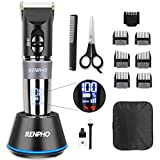 Hair Clippers for Men  RENPHO Professional Clipper for Hair Cutting  3-Speed Motor Hair/Beard Trimmer Grooming Kit  Cordless Haircut for Home/Barbers Precise Length Setting  Lightweight  Easy Clean
