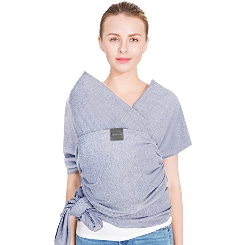 Baby Wrap Baby Carrier Baby Sling Wrap Carrier for Newborns, Infants, Toddlers, 4-in-1: Soft Carrier – Baby Sling – Postpartum Belt – Nursing Breastfeeding Cover | Great Baby Shower Gift(Light Grey)