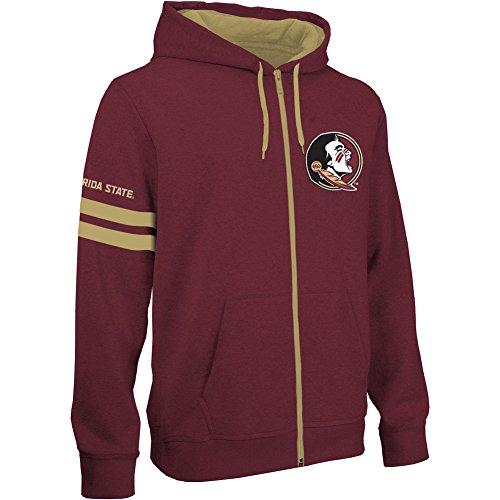Florida State Seminoles Full Zip Hooded Sweatshirt Garnet