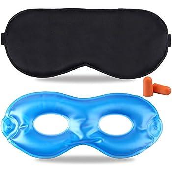 Amazon Com Fitglam Pure Silk Sleep Mask Reusable Cold