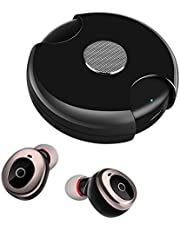 ZHSX wireless Earbuds IPX7 waterproof headset TWS stereo Bluetooth 5.0 earphone, built-in microphone headset, portable charging gyro box, suitable for sports