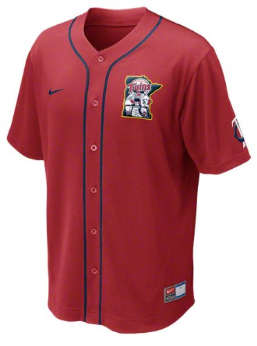 NIKE Minnesota Twins MLB Performance Jersey - Red (Large) ()
