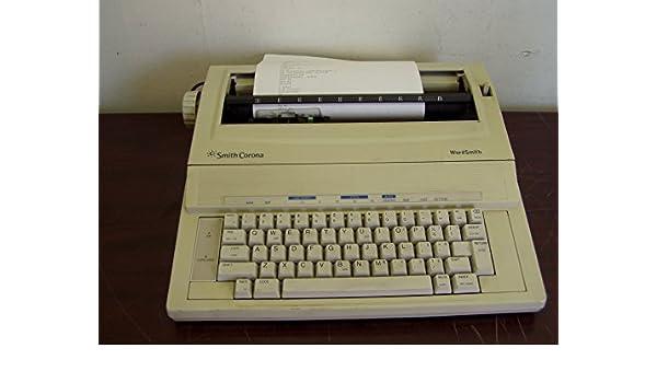 Smith Corona - KA11 electrónico máquina de escribir wordsmith 100 probado W/Print & Power Chords: Amazon.es: Electrónica