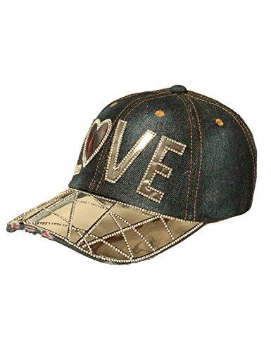 Fifth Parallel Threads Studded Baseball Cap Hat Slove DARKBLUE OS