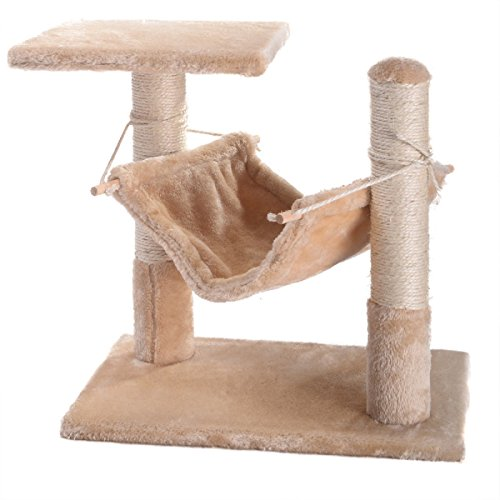 NEW! Deluxe Cat Tree 18″ Condo Furniture Scratching Post Pet House Pet Play Toy Review