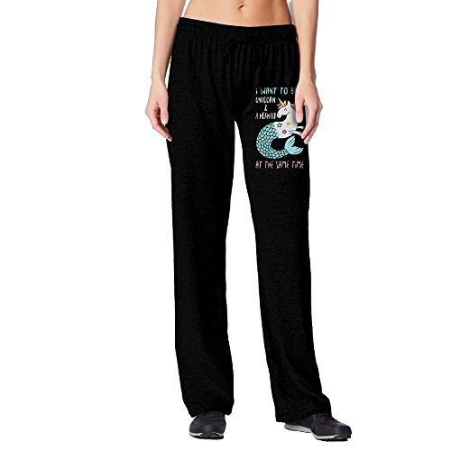 I Want To Be A Unicorn And A Mermaid At The Same Time Elastic Waist Jogger Fleece Pants For - Face Skinny Want I A