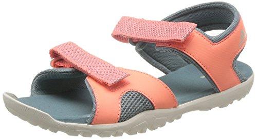 adidas Sandplay Od K Sandalias de deporte, Unisex infantil Naranja (Green Earth/Chalk White/Sun Glow)