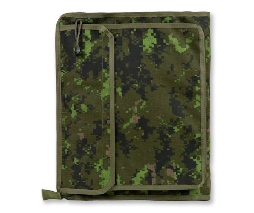 Tactical 3-Ring Binder Cover, Large, Zippered Military