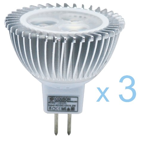 3 x Bombilla LED MR16 3W Foco Luz Blanco Cálido AC 12V: Amazon.es: Iluminación