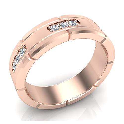 Men's Diamond Wedding Band Semi-Eternity Wedding Ring 14K Rose Gold 0.45 ct tw (Ring Size11.5)