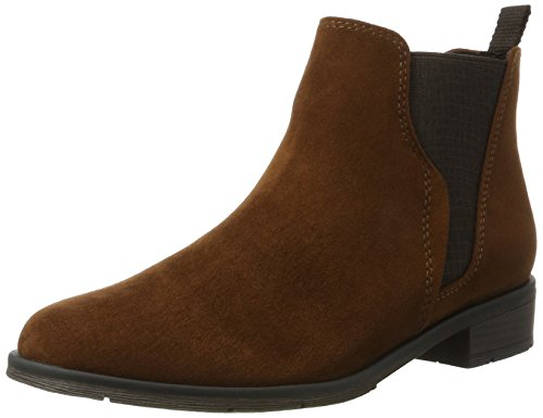 25321 Cognac Marco Boots Tozzi Mujeres Chelsea Brown wvRREFqC