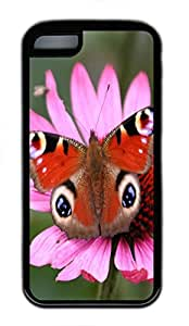 iPhone 5C Case Peacock Butterfly TPU Custom iPhone 5C Case Cover Black