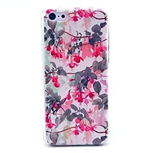 QJM Enkianthus Chinensis Flower Pattern Hard Cover Case for iPhone 5C