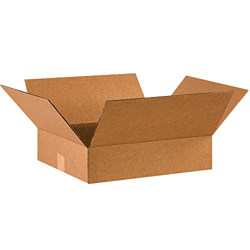 "BOX USA B1614475PK Flat Corrugated Boxes, 16"" L x 14"" W x 4"" H, Kraft (Pack of 75) from BOX USA"