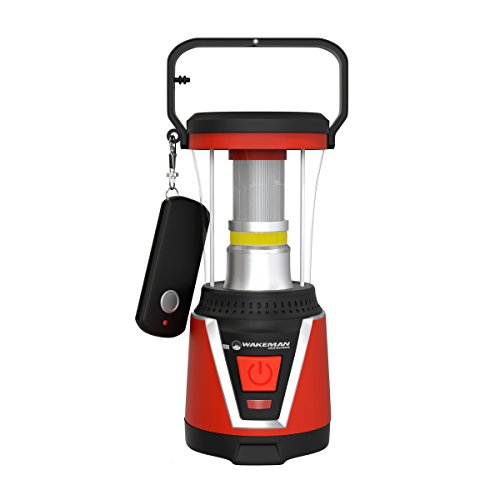 Wakeman 75-CL1025 2 in 1 LED Lantern and Flashlight with Remote, Red