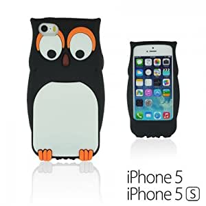 OnlineBestDigital - Owl Style 3D Soft Silicone Case for Apple iPhone 5S / Apple iPhone 5 - Black