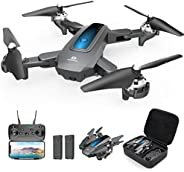 DEERC Drone with Camera 720P HD FPV Live Video 2 Batteries and Carrying Case, RC Quadcopter Helicopter for Kid