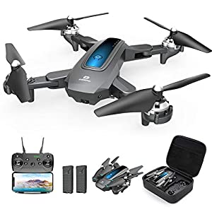 Flashandfocus.com 41qCUb9iWKL._SS300_ DEERC Drone with Camera 1080P HD FPV Live Video 2 Batteries and Carrying Case, RC Quadcopter Helicopter for Kids and…