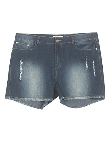 Plus Size Do Over Denim Shorts --Size: 16 Color: Blue