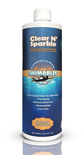 Swimables Clear N' Sparkle Swimming Pool & Spa Clarifier 1 Qt - SW101