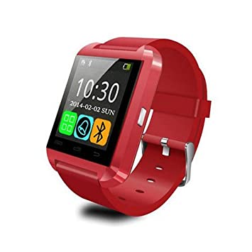 e-Zistore SMARTWATCH Montre CONNECTÉE Bluetooth Android Apple IPHONE Smartphone Rouge