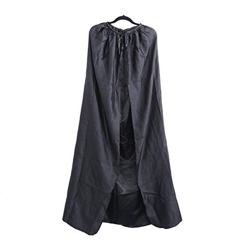 LUOEM Capa Capa de Halloween Capa de muerte de Chamán de color de seda para adultos Talla M (Negro)