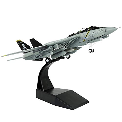 HANGHANG 1/100 Scale F-14 Jolly Flog Fighter Attack Plane Metal Fighter Military Model Fairchild Republic Diecast Plane Model for Commemorate Collection