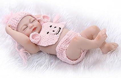 "10/"" Handmade Reborn Baby Girl Doll Realistic Lifelike Soft Vinyl Silicone Gifts"