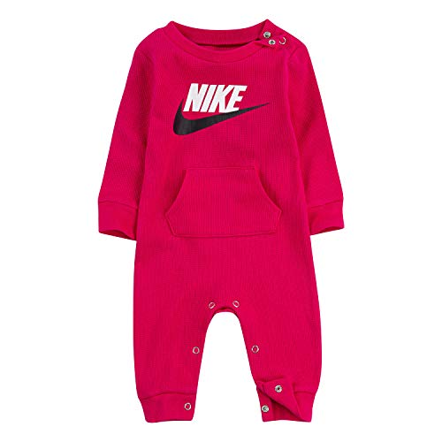 NIKE Children's Apparel Baby Thermal Coverall, Rush Pink, 0/3M