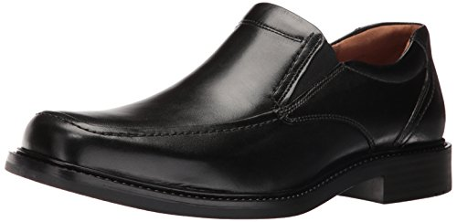 Black Calfskin Loafer Shoes - Johnston & Murphy Men's Tabor Slip On Slip-On Loafer, Black Calfskin, 9 D US
