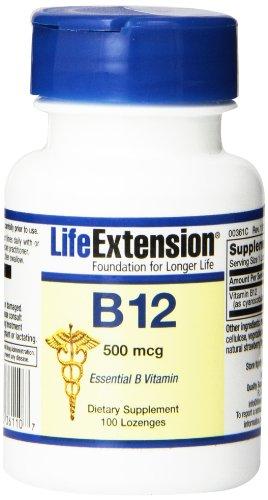 Продления жизни Витамин B12 500mcg Tablet, 100-леденцы