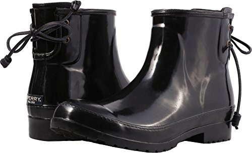 Sperry Top-Sider Women's Walker Turf Rain Boot (8 B(M) US, Black)