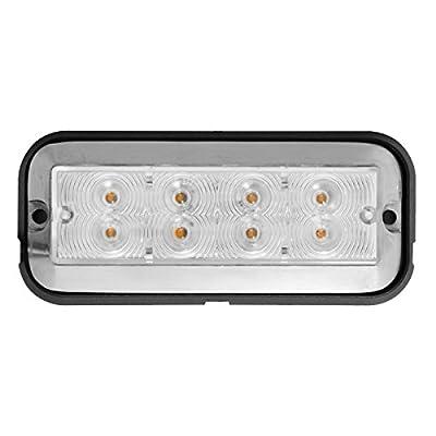 Grand General 81831 Amber/Clear Medium Rectangular 8 LED Strobe Light: Automotive
