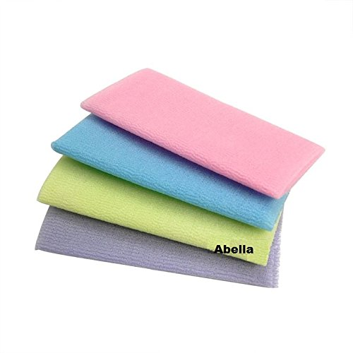 Abella Wash Cloth 4 pc. (Colors Varie) Assorted Colors