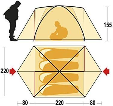 Orange Ferrino Lhotse 4 4-Season Tent 4-Person