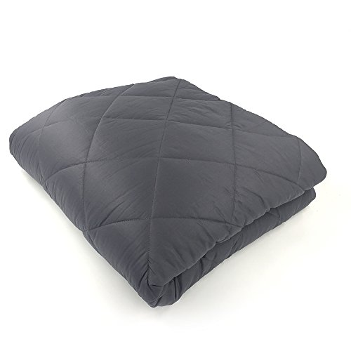Hypnoser King SIze Weighted Gravity Heavy Blanket 2.0 for Couple,Great Sleep Therapy for People with Anxiety, Autism, ADHD, Insomnia or Stress(Light Black, 80