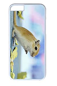 iPhone 6 Plus Case, Personalized Protective Hard PC White Case Cover for Apple iPhone 6 Plus(5.5 inch)- Stand Hamster