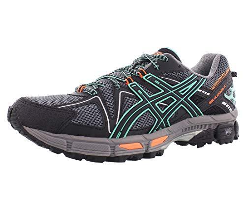 ASICS Womens Gel-Kahana 8 Running Shoe, Black/Ice Green/Hot Orange, 10 Medium US