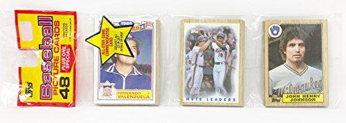 1986 Unopened 48 Count Baseball Rack Pack + 1 All Star Commemorative Card - Fernando Valenzuela (49 Total Cards)
